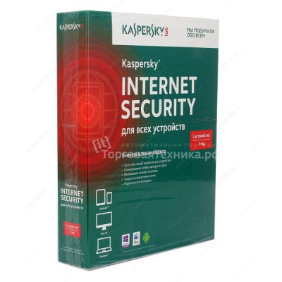 Kaspersky Internet Security Multi-Device Russian Edition. 2-Device 1 year Base Box