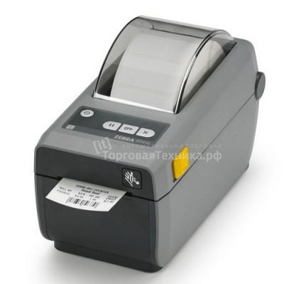 Принтер этикеток Zebra ZD410 (203 dpi) (USB, USB Host, BTLE, серый)