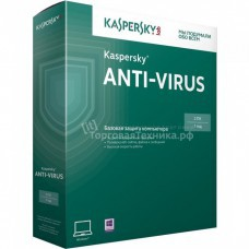 Kaspersky Anti-Virus Russian Edition. 2-Desktop 1 year Base Box